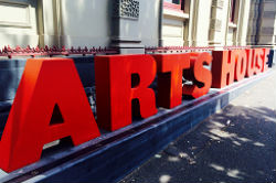 Large red letters spelling out Arts House.