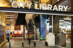 City Library entrance