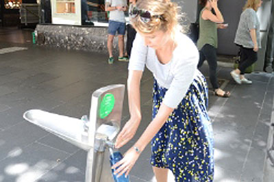 Refill at a hydration station - City of Melbourne