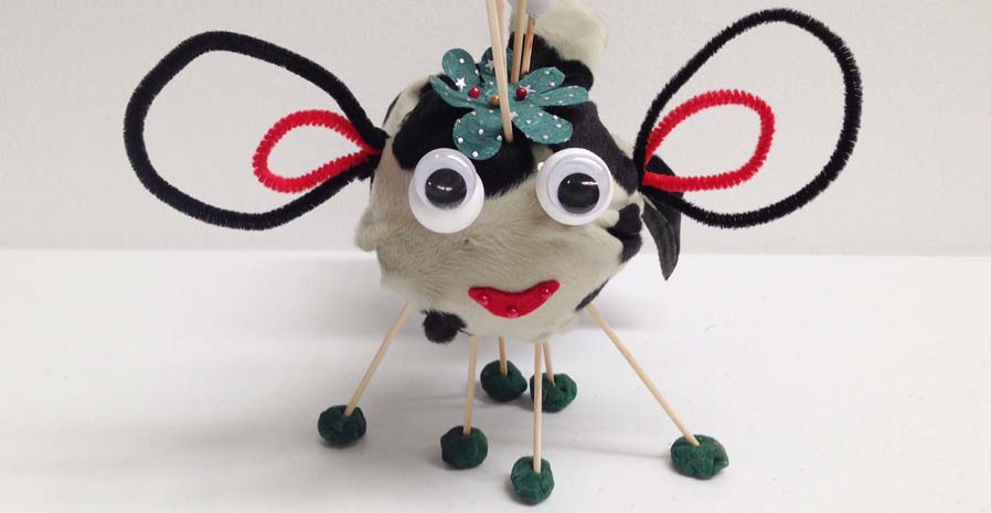 Insect made from household materials