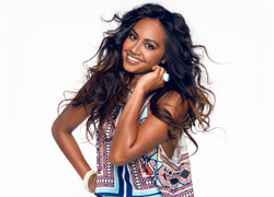 Jessica Mauboy smiling at the camera