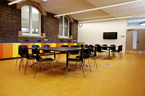 tables and chairs at kathleen syme library and community centre