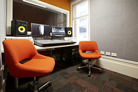 recording studio at  kathleen syme library and community centre
