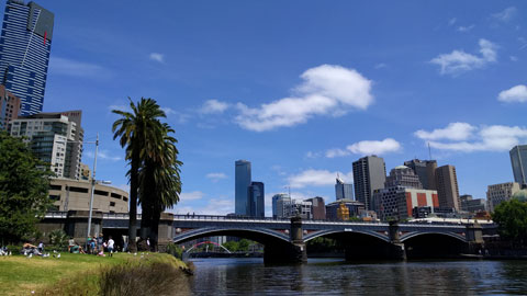 view of the yarra river from southbank