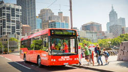 Explore the city on board the Melbourne Visitor Shuttle
