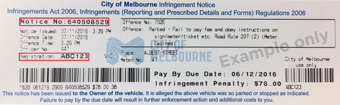Parking ticket template.