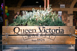 Queen Victoria Market sign