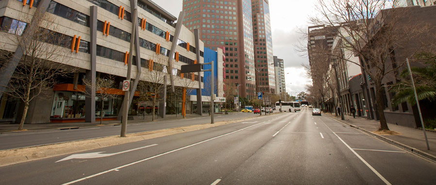 Image of a melbourne road